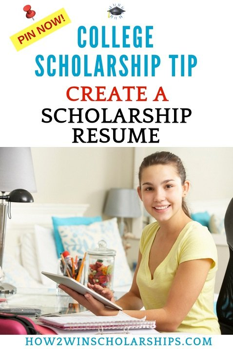 College Scholarship Tip - Activity and Scholarship Resumes Impress the Judges!