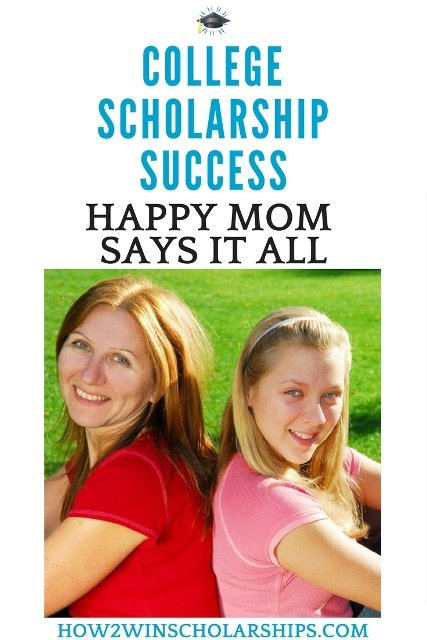 Happy Mom says Thank You for Winning College Scholarship Strategies