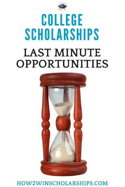 Last Minute College Scholarship Opportunities - SAVE THIS LIST! #college #scholarships