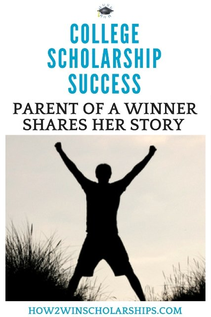 A parent of a college scholarship winner shares her story - MUST READ!