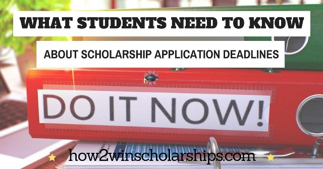 College Scholarship Application Deadlines