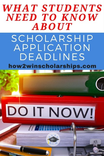 What students need to know about college scholarship application deadlines