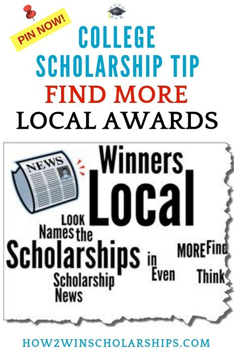 College Scholarship Tip - Find More Local Awards