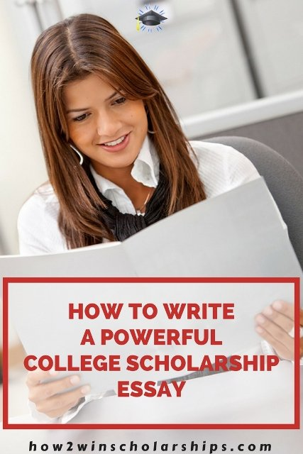 How to write a powerful college scholarship essay