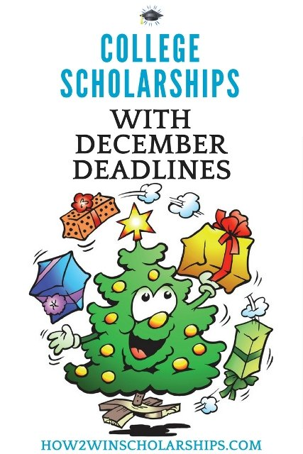 College Scholarships with December Deadlines #college #scholarships #ScholarshipMom