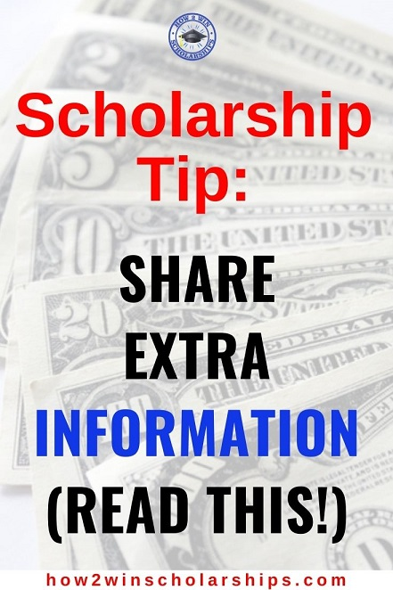 College Scholarship Tip - Share Extra Information and Impress the Judges!