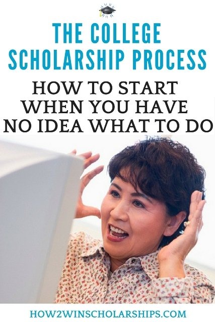 How to start the college scholarship process when you have no idea what to do. Help is here! #college #scholarships #ScholarshipMom