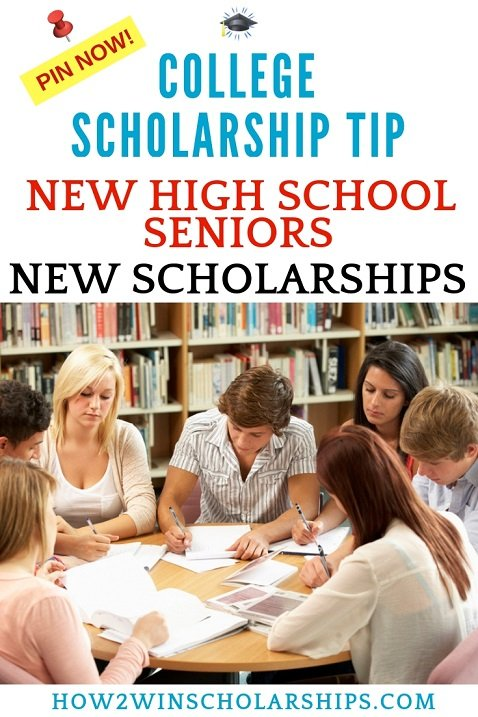 New high school seniors means NEW college scholarship opportunities!
