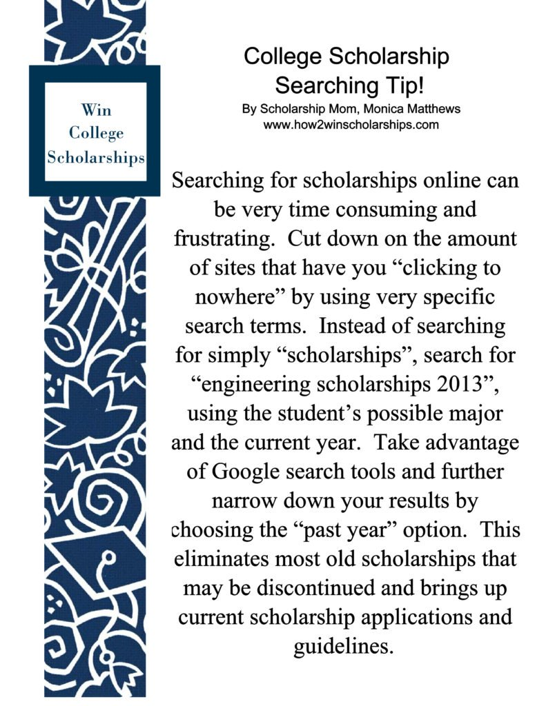 past winning scholarship essays