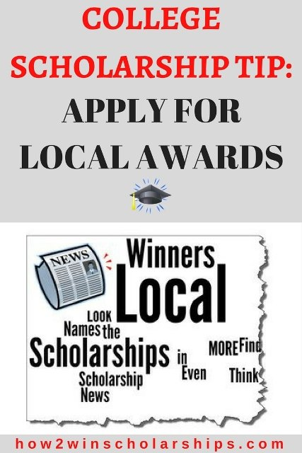 Apply for more local college scholarships and increase your chances of winning!