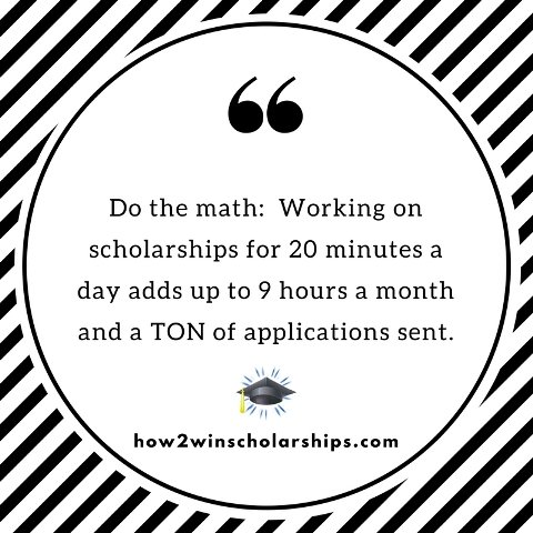 Small college scholarship steps lead to BIG results!