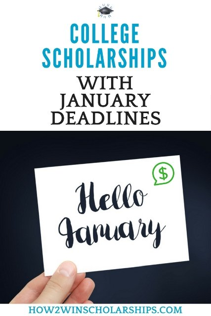 College Scholarships with January Deadlines - Do NOT miss these! #college #scholarships #ScholarshipMom