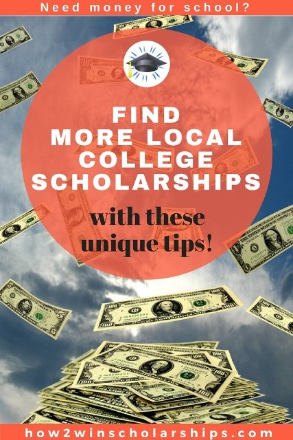 Find more local college scholarships with these unique tips!