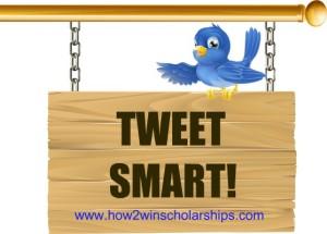 Students need to tweet smart to impress college scholarship judges!