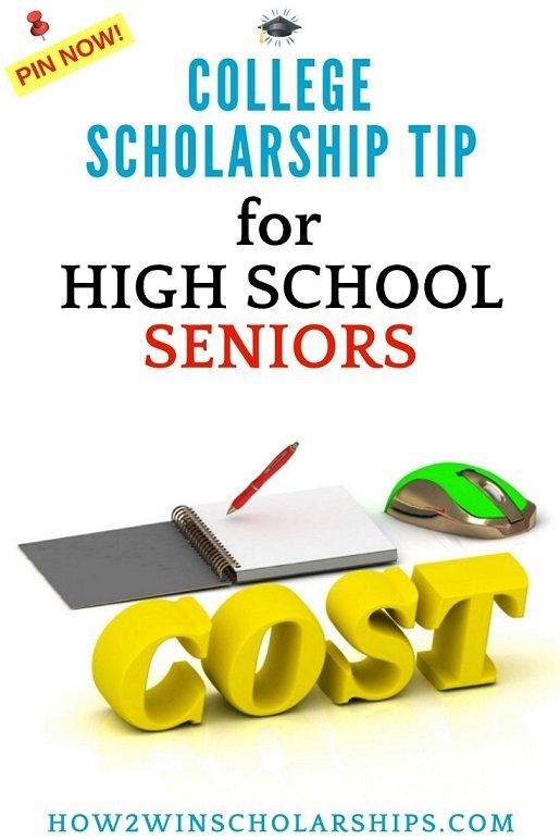 College Scholarship Tip for High School Seniors