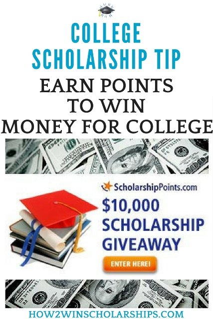 College Scholarship Tip - Earn Scholarship Points to Win Money for College