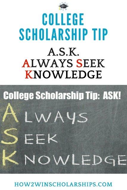 College Scholarship Tip - Always Seek Knowledge