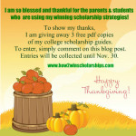 Thanksgiving College Scholarship Guide Giveaway