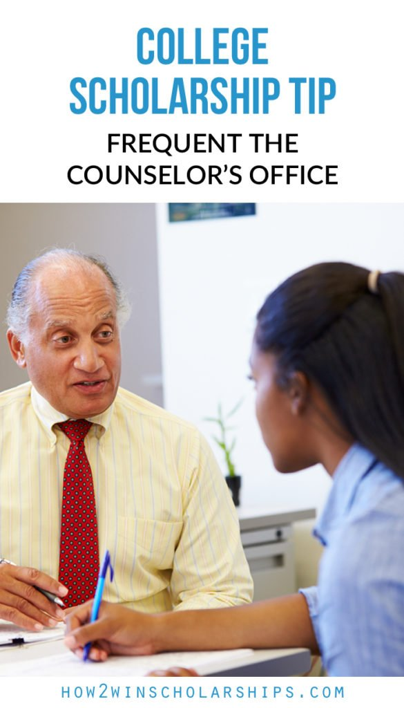 College Scholarship Tip - Frequent the Counselor's Office #College #Scholarships #ScholarshipMom