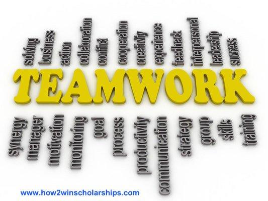 College Scholarship Tip: Teamwork Makes the Dream Work!