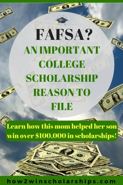 An important college scholarship reason to NEVER skip filing the FAFSA!