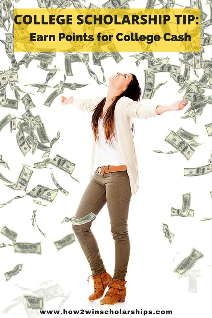 College Scholarship Tip - Earn Points for College Cash! #college #scholarships #ScholarshipMom