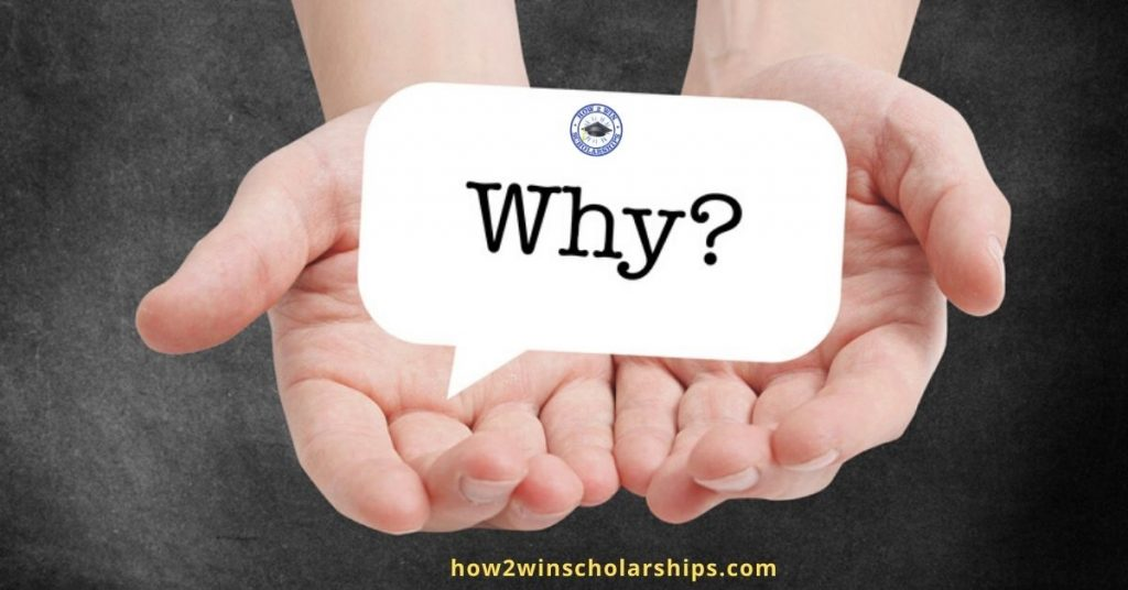 College Scholarship Tip - Know the WHY and Use it