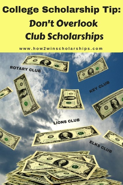 College Scholarship Tip:  Don't Overlook Club Scholarships