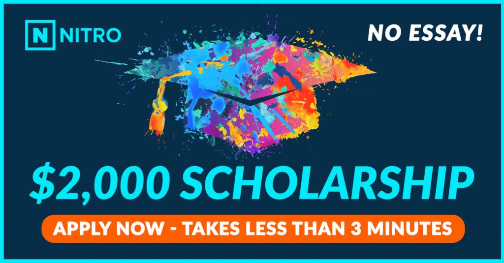 Nitro Scholarship - Apply Now