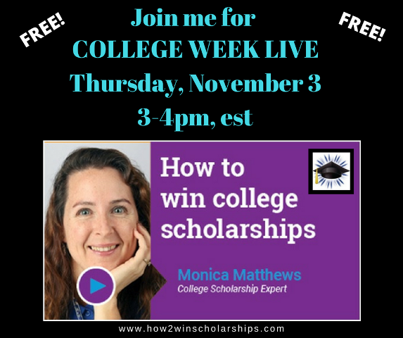 Scholarship Webcast on College Week Live