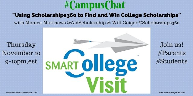 #CampusChat – Using Scholarships360 to Find and Win College Scholarships