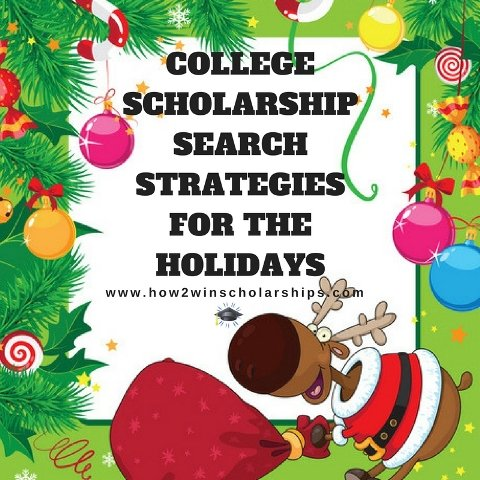 College Scholarship Search Strategies for the Holidays #college #scholarships #ScholarshipMom