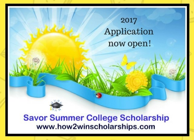 2017 Savor Summer College Scholarship