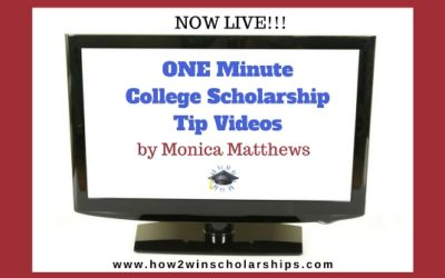 ONE Minute College Scholarship Tips
