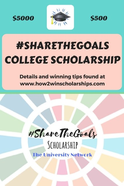 #ShareTheGoals College Scholarship - Monthly award! #college #scholarships #ScholarshipMom
