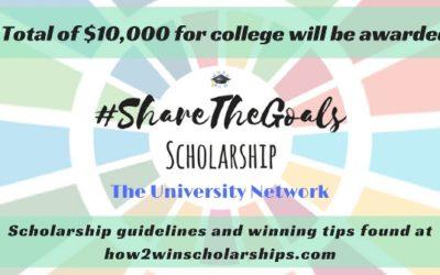 #ShareTheGoals College Scholarship