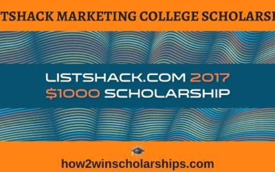 ListShack Marketing College Scholarship