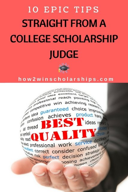 10 Epic Tips Straight from a College Scholarship Judge - PIN THIS NOW! #college #scholarships #ScholarshipMom