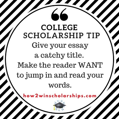 no essay scholarship college