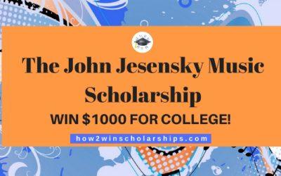 The John Jesensky Music Scholarship