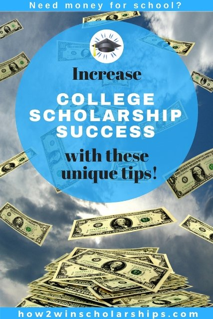 Increase college scholarship success with these quick and easy tips!
