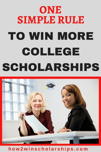 One Simple Rule to Win More College Scholarships #college #scholarships #ScholarshipMom