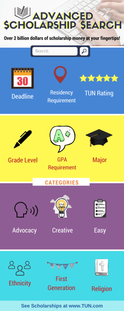 Superb College Scholarship Search Tool from TUN #college #scholarships #ScholarshipMom