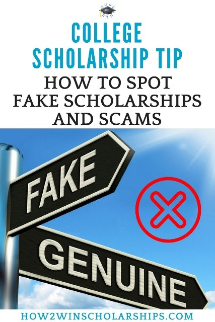 College Scholarship Tip - How to Quickly Spot Fake Scholarships and Scams