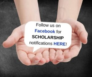 Follow us on Facebook for college scholarship notifications