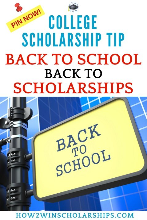 Back to School - Back to Scholarships for College