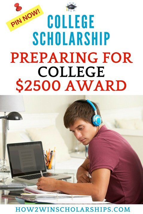 Preparing for College Essay Scholarship - EASY application!
