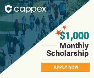 Cappex monthly college scholarship for $1000