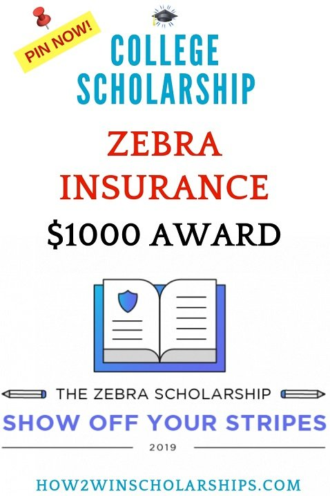 Zebra Scholarship for College - Show Off Your Stripes
