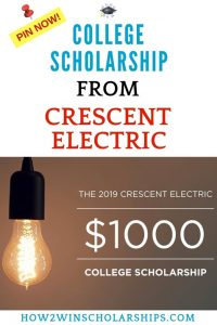 Crescent Electric College Scholarship Award - APPLY NOW!